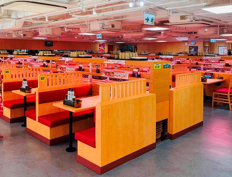 Japanese conveyor belt sushi restaurant chain opens first